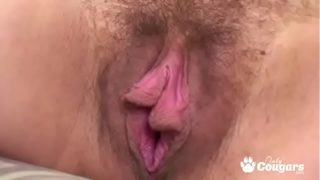 Pregnant Mom Plays With Her Saggy Pussy Lips